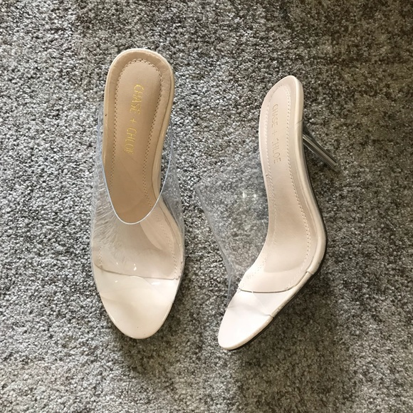 ca1791ba025 Shoes - Clear High Heel Mules - YEEZY Season 6 inspired